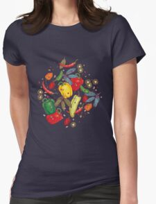 Hot & spicy! Womens Fitted T-Shirt