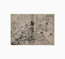 Kiyonobu Torii - Courtesan Painting a Screen - Circa 1710 - Woodcut Unisex T-Shirt