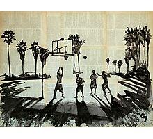 Playing basketball. Photographic Print