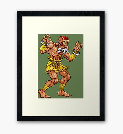 Dhalsim - indian fighter Framed Print