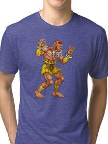 Dhalsim - indian fighter Tri-blend T-Shirt