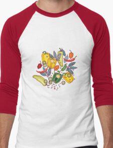 hot & spicy 2 Men's Baseball ¾ T-Shirt