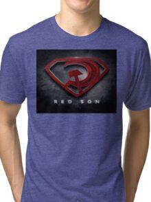 Superman Red Son Tri-blend T-Shirt