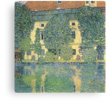 Klimt - The Schloss Kammer On The Attersee Iii Canvas Print