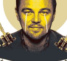 Never give up! Leonardo Dicaprio oscar Sticker