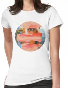 She lives in California, she adores Bowie, Vintage Collage Womens Fitted T-Shirt