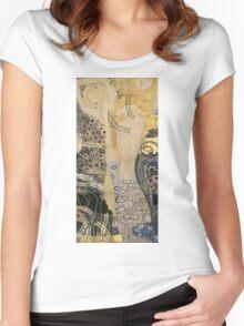 Gustav Klimt  - Water Serpents Women's Fitted Scoop T-Shirt