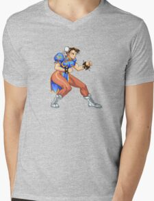 Chun-Li Zang - chinese fighter Mens V-Neck T-Shirt