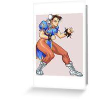 Chun-Li Zang - chinese fighter Greeting Card