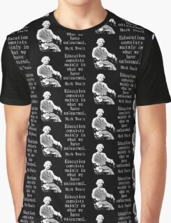 Education Consists Mainly - Twain Graphic T-Shirt