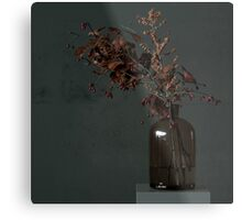 Autumn Bottle and Twigs Full Metal Print