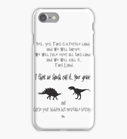 curse your sudden but inevitable betrayal, firefly, grey iPhone Case/Skin