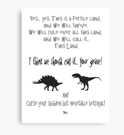 curse your sudden but inevitable betrayal, firefly, grey Canvas Print