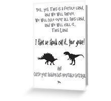 curse your sudden but inevitable betrayal, firefly, grey Greeting Card