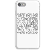 Gilmore Girls (Where You Lead) iPhone Case/Skin