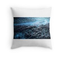 Abstract landscape blue Throw Pillow