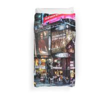 Times Square New York Duvet Cover