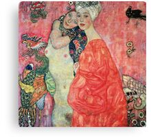 Gustav Klimt  - Women Friends Canvas Print