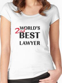 Better Call Saul - World's 2nd Best Lawyer Women's Fitted Scoop T-Shirt