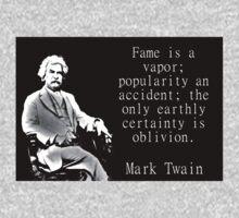 Fame Is A Vapor - Twain Baby Tee