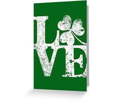 LOVE - Shamrock Distressed Greeting Card