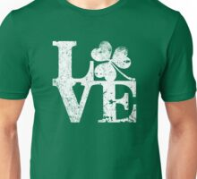 LOVE - Shamrock Distressed Unisex T-Shirt