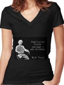 Familiarity Breeds Contempt - Twain Women's Fitted V-Neck T-Shirt
