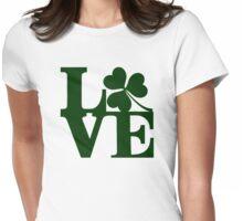 LOVE - Shamrock Womens Fitted T-Shirt