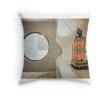 Nakagin Capsule Tower Interior Throw Pillow