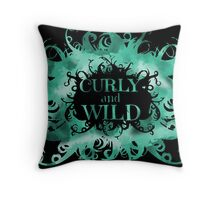 curly and wild Throw Pillow