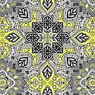 Boho Sunshine Medallion Pattern by micklyn