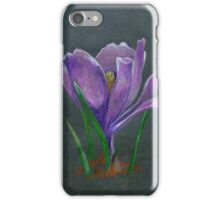 SIngle flower sketch  hand drawing. Chalkboard and pencil technic iPhone Case/Skin