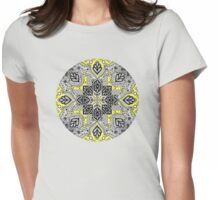 Boho Sunshine Medallion Pattern Womens Fitted T-Shirt