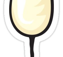 Glass of Champagne sticker Sticker