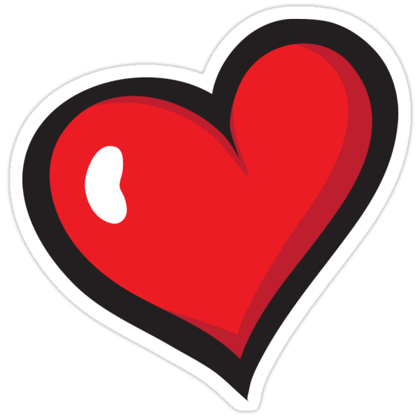 Red Cartoon Heart Sticker Stickers By Mhea Redbubble