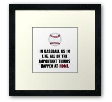Baseball Home Framed Print