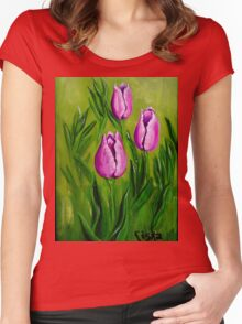 Tulips (2) Women's Fitted Scoop T-Shirt