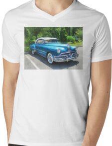 Blue 1951 Pontiac Mens V-Neck T-Shirt