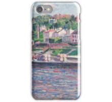 Maximilien Luce - Bas-Meudon The Barge On The River  iPhone Case/Skin