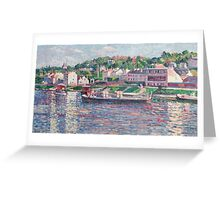 Maximilien Luce - Bas-Meudon The Barge On The River  Greeting Card