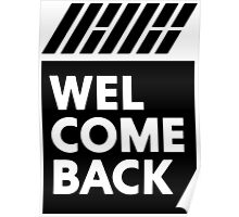 iKON welcome back black edition Poster