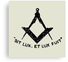 SIT LUX, ET LUX FUIT Canvas Print