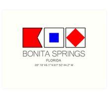 BONITA SPRINGS, FLORIDA  Nautical Flag Art Art Print