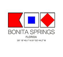 BONITA SPRINGS, FLORIDA  Nautical Flag Art Photographic Print