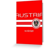 Euro 2016 Football - Austria (Home Red) Greeting Card