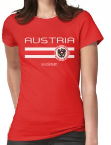 Euro 2016 Football - Austria (Home Red) Womens Fitted T-Shirt