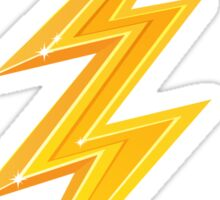 Golden yellow lightning bolt Sticker