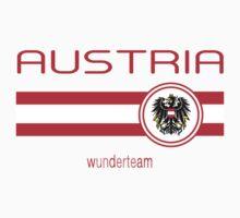 Euro 2016 Football - Austria (Away White) Kids Tee