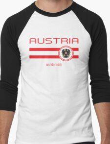 Euro 2016 Football - Austria (Away White) Men's Baseball ¾ T-Shirt