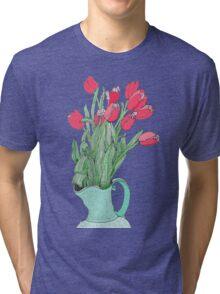Red Tulips ~  Tri-blend T-Shirt